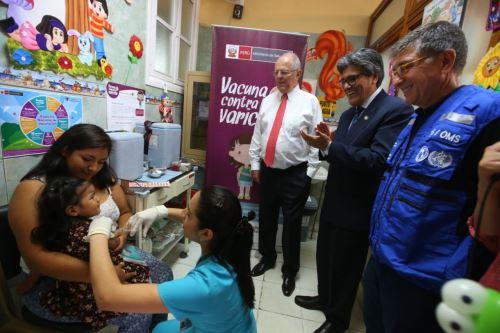 Presidente Pedro Pablo Kuczynski participa del lanzamiento de la vacunación contra la varicela