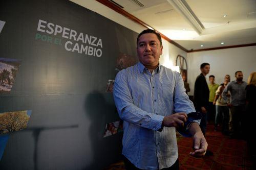 Pastor evangélico Javier Bertucci. Foto: AFP