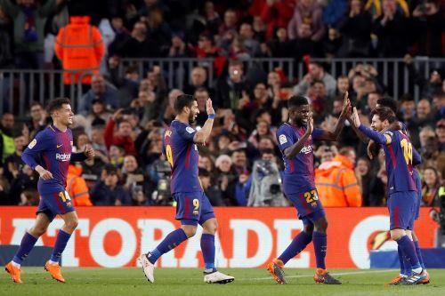 FC Barcelona gano por goleada de  6 a 1 al Girona FC en el estadio Camp Nou de Barcelona