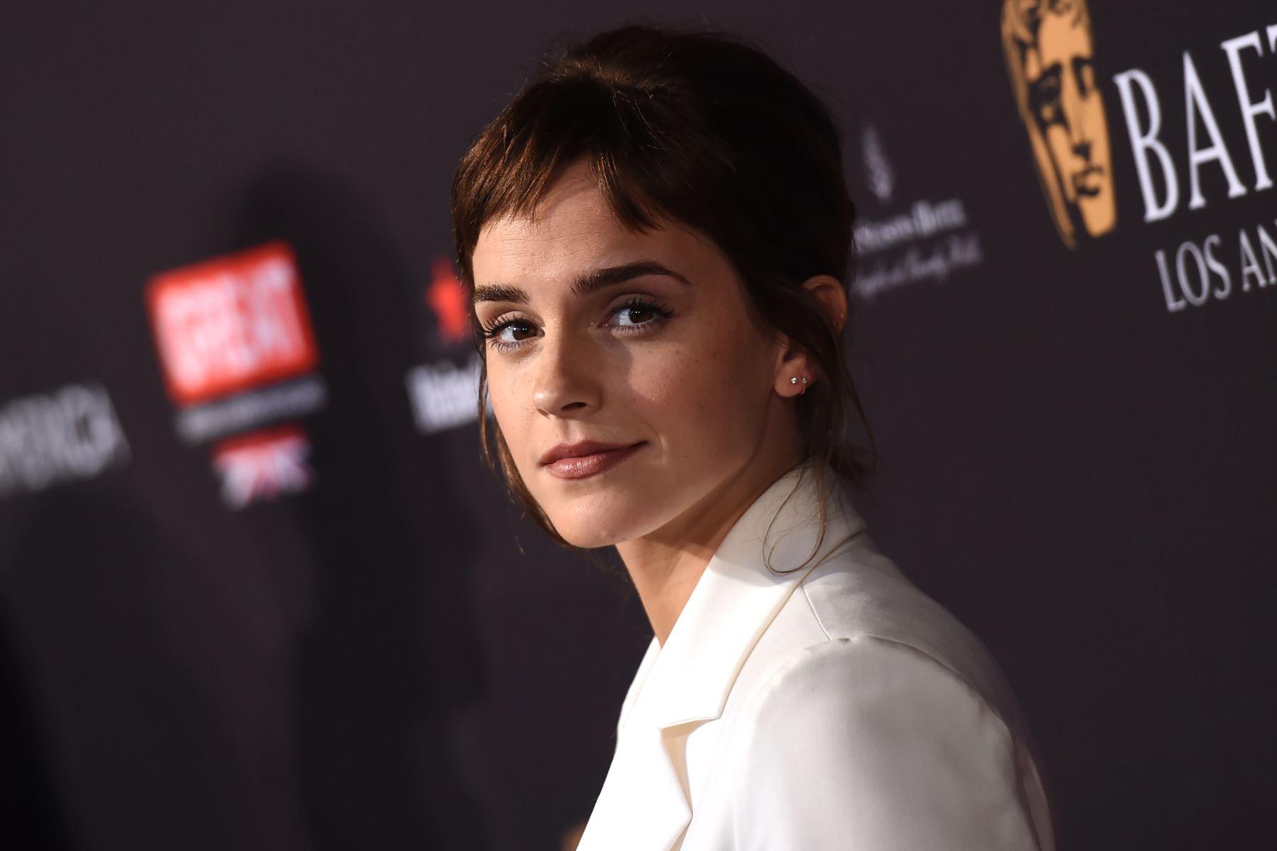 """Emma Watson (Actriz) """"A las jóvenes se les hace creer que tiene que ser algún tipo de princesa, delicada y frágil, y eso es una estupidez"""". Foto: AFP"""