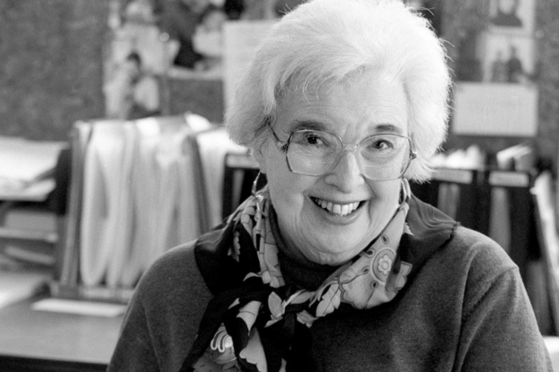 """Gerda Lerner (Historiadora). """"La ignorancia de su misma historia de luchas y logros ha sido una de las principales formas de mantener a las mujeres subordinadas"""". Foto: State Journal archives"""