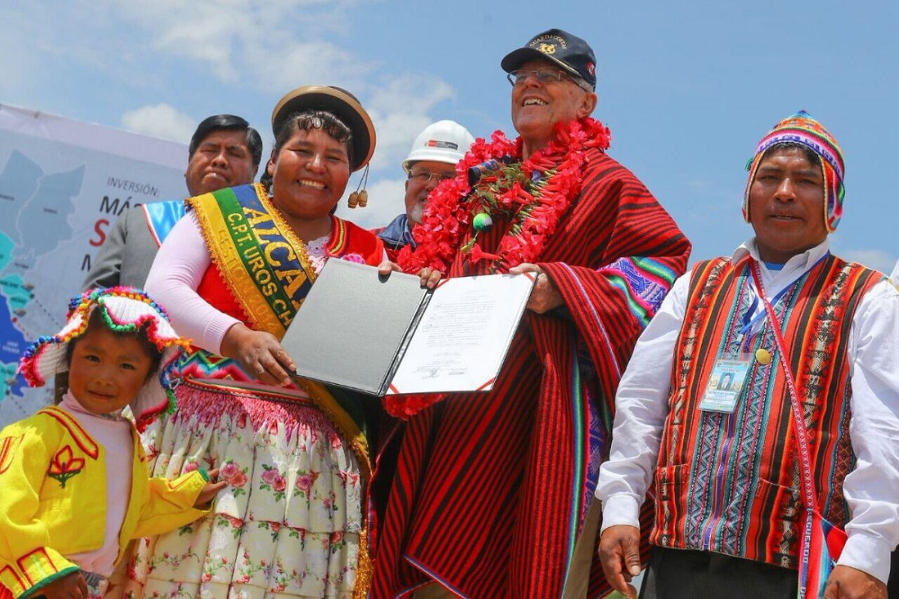 Presidente Pedro Pablo Kuczynski visita región Puno.