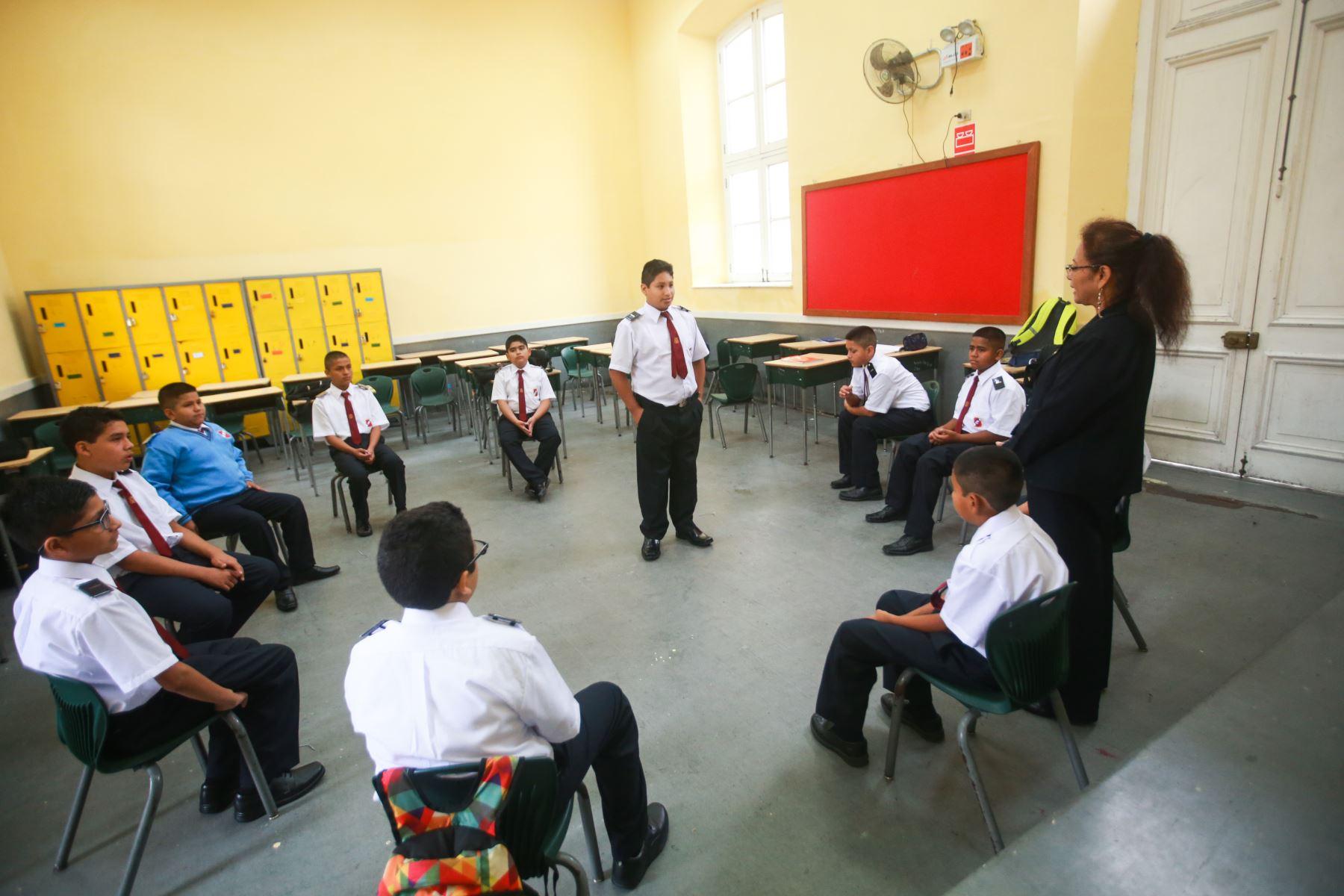 Inicio del año escolar 2018 en el colegio Guadalupe. Foto: ANDINA/Jhony Laurente