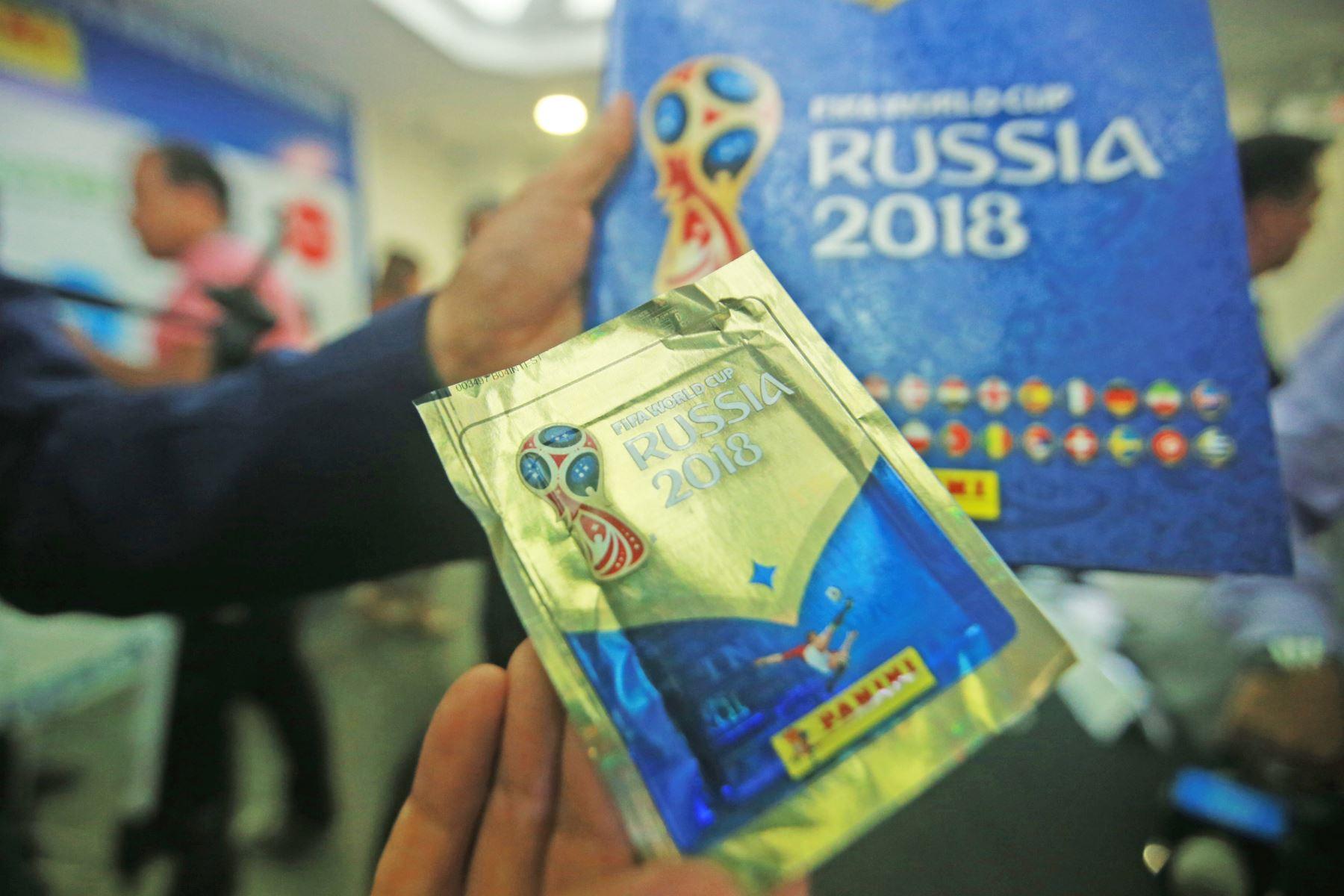 Presentación oficial del álbum Panini 2018 FIFA World Cup. Foto: ANDINA/Jhony Laurente