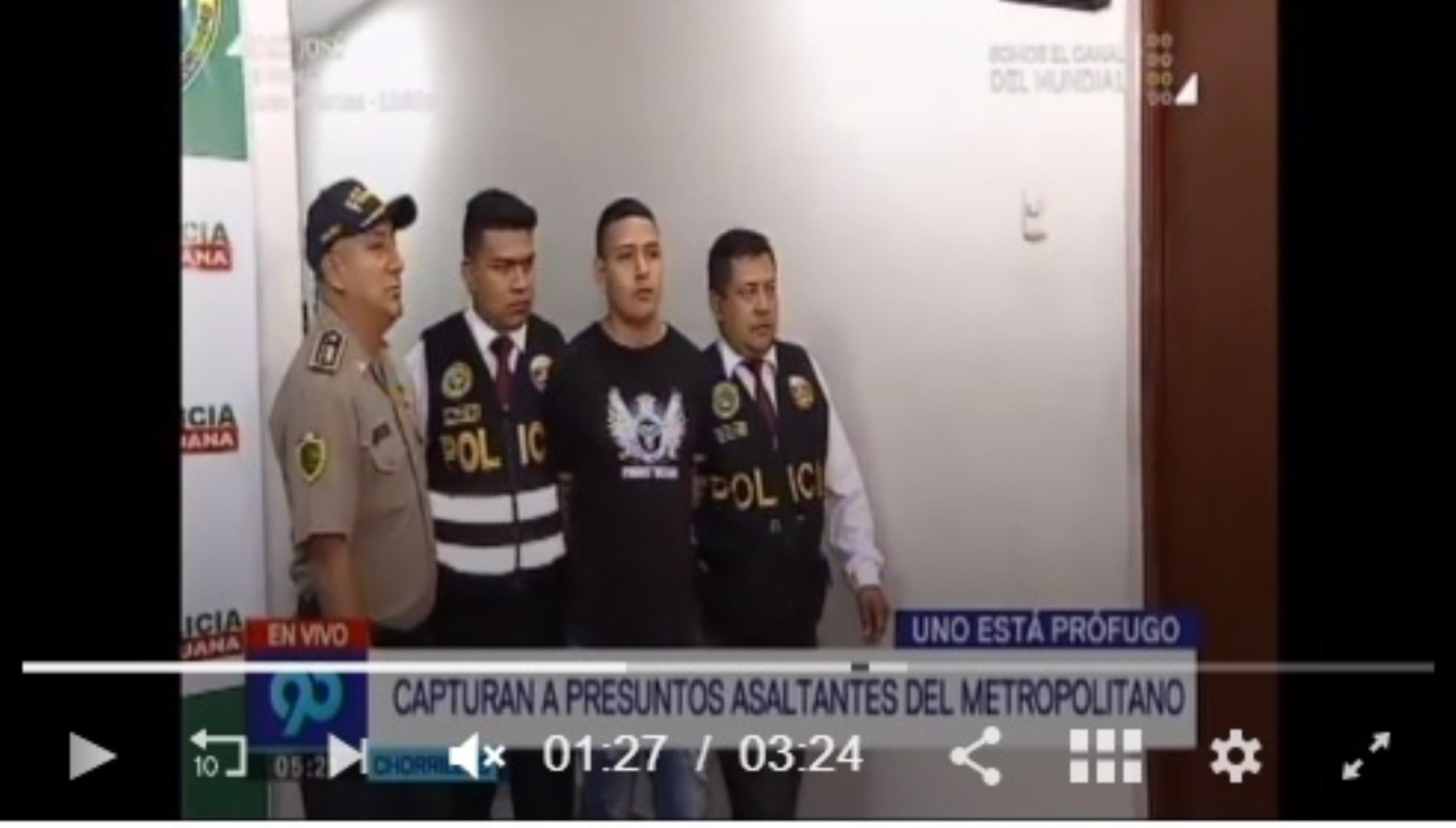 Asalto en el Metropolitano: capturaron a uno de los delincuentes