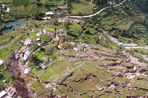Comunidad de Lluto afectada por deslizamientos, en Cusco
