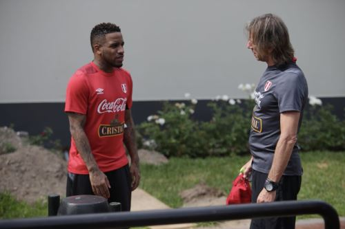 La selección  peruana realizó su último entrenamiento  ayer, en la Villa Deportiva Nacional