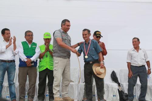 Juramentación de rondas campesinas de Chaparrí en Chongoyape-Chiclayo