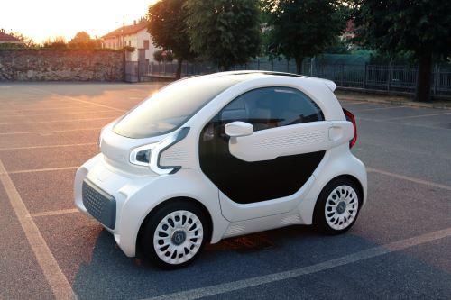 Automóvil fabricado en impresora 3D