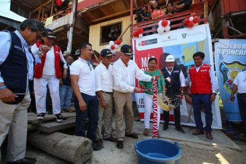 Presidente  Kuczynski inauguro obras de agua potable en el distrito de Punchana Iquitos