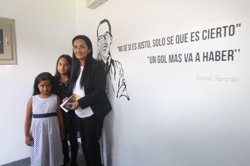 """Inauguración de la """"Cabina Daniel Peredo"""", en el estadio nacional"""