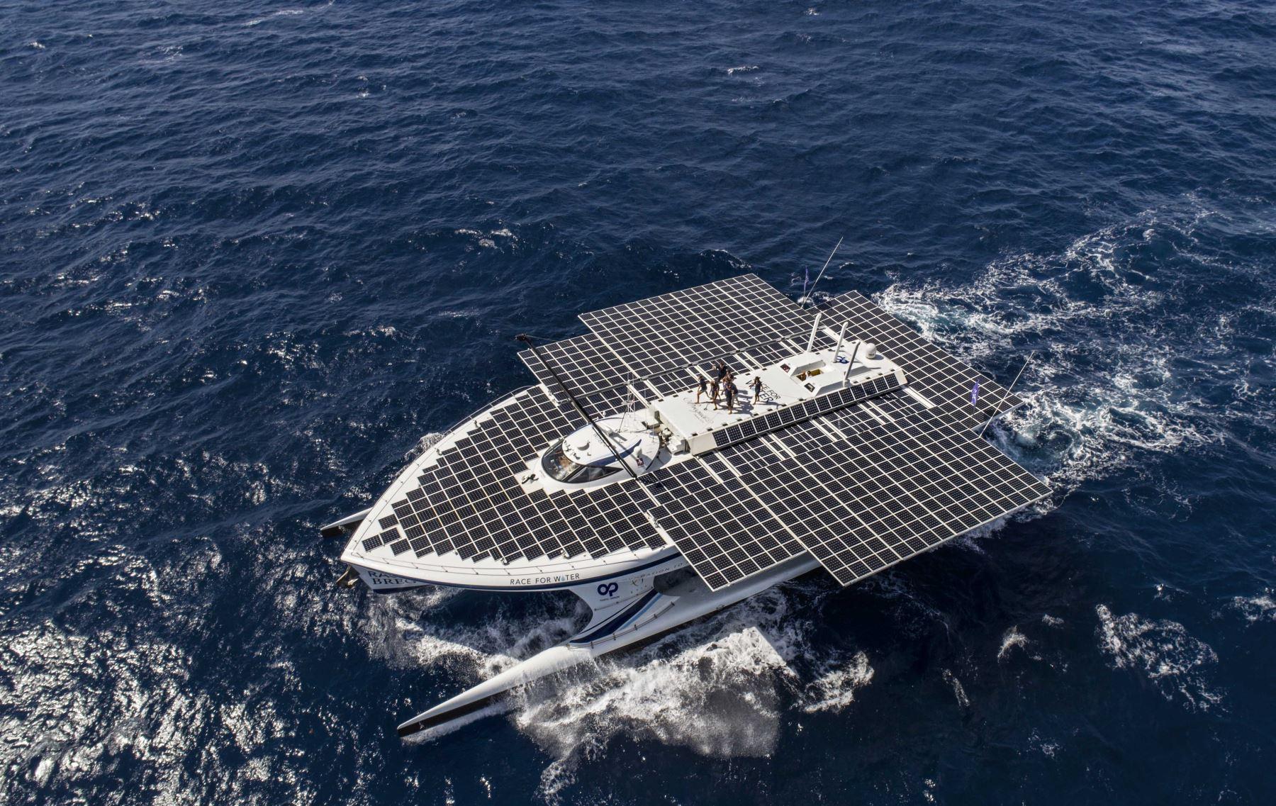 """""""Race for Water Odyssey"""" primera embarcación autosostenible del mundo llegó al Perú. Foto: ANDINA/Difusión"""