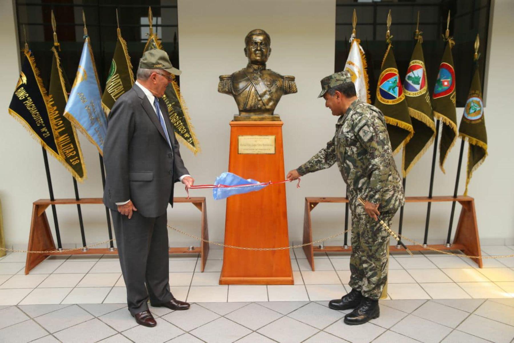 Presidente Kuczynski participa en la presentación de la 1ª Brigada Multipropósito Mariscal del Perú Eloy Gaspar Ureta Montehermoso del Ejército del Perú.Foto:ANDINA/Prensa Presidencia