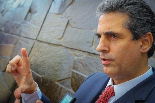 Presidente del Consejo Directivo de SUNASS, Iván Lucich. ANDINA/Andrés Valle