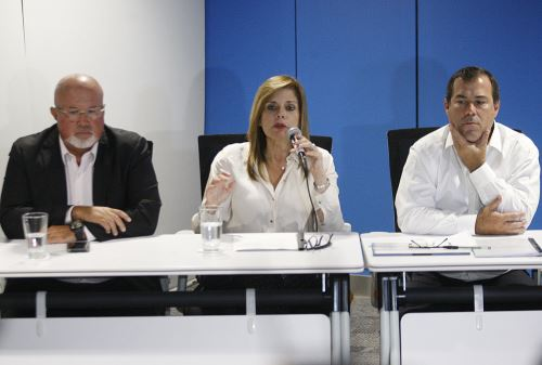 Conferencia de prensa de la presidenta del Consejo de Ministros, Mercedes Aráoz