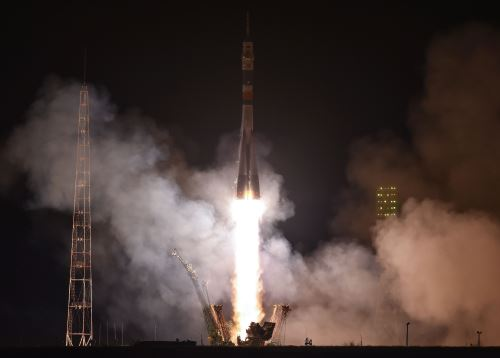 Despegue del Soyuz MS-08. Foto: AFP