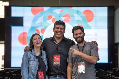 Encuentro de grandes de la animación junto a crédito peruano Milton Guerrero de Red Animation Studios.