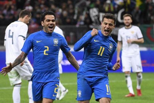 Coutinho aparece cuando Neymar se encuentra ausente. Brasil goleó a Rusia