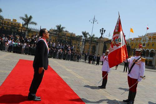 El Presidente de la República, Martín Vizcarra, llegó a Palacio de Gobierno