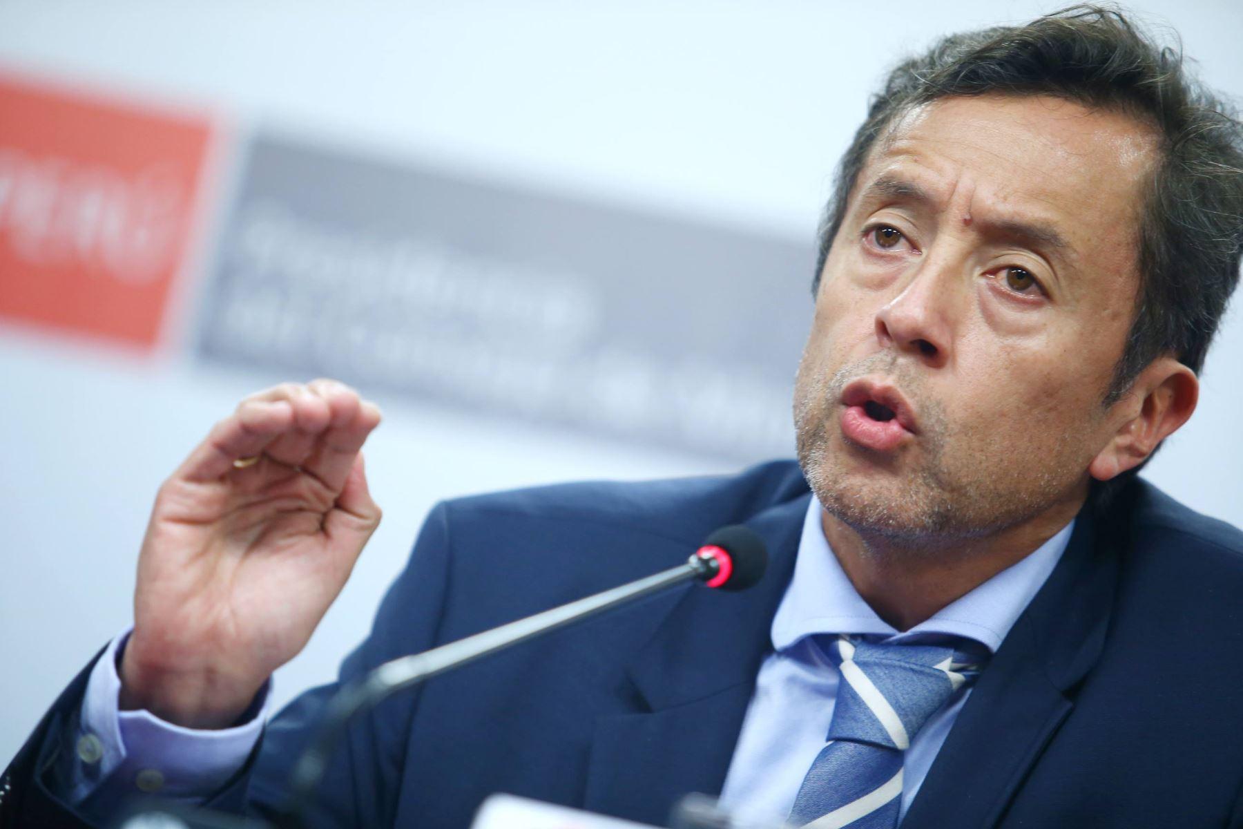 Ministro de Economía y Finanzas, David Tuesta. ANDINA/Melina Mejía