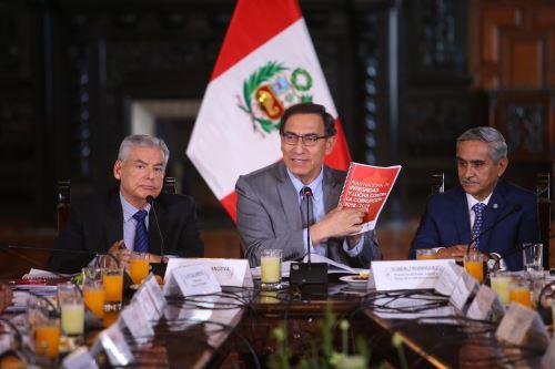 Presidente Martín Vizcarra lidera la trigésima primera sesión de la Comisión de Alto Nivel Anticorrupción (CAN)