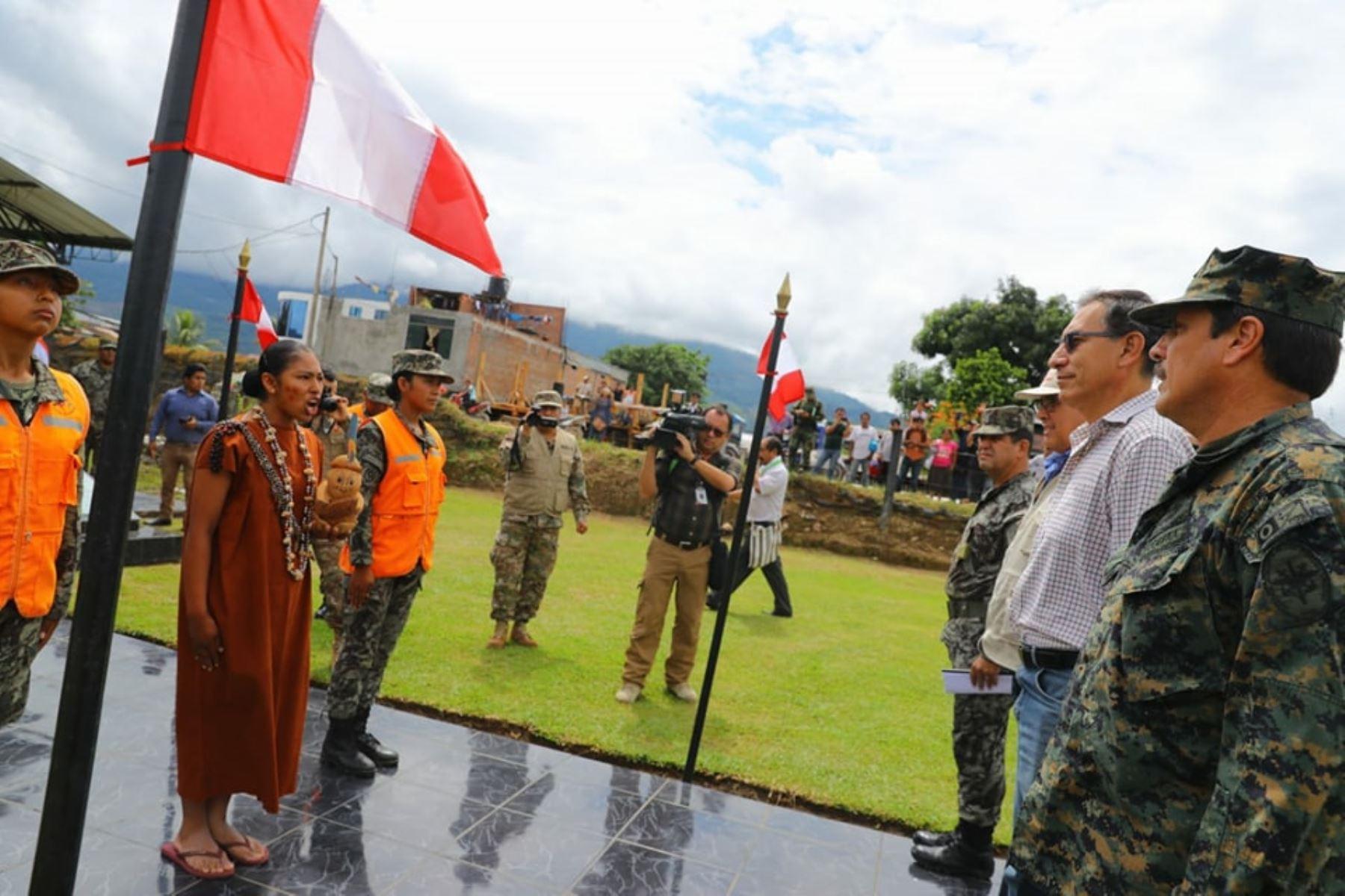 Presidente Martín Vizcarra, llega a la región Junín con el propósito de verificar las atenciones que brinda el Estado a la población de San Martín de Pangoa. Foto: ANDINA/ Prensa Presidencia