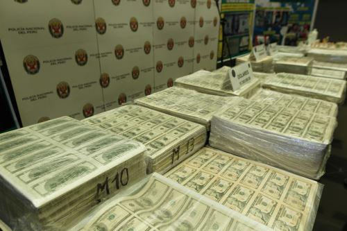 Policía Nacional del Perú incautó 15 millones de dólares falsificados