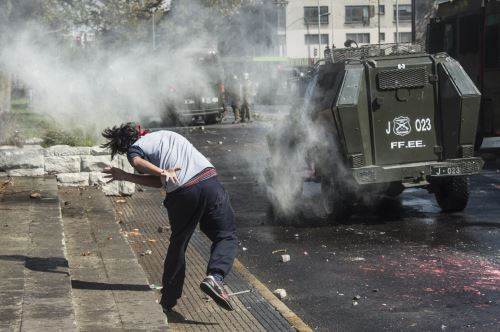 Protestas estudiantiles en Chile Foto: AFP