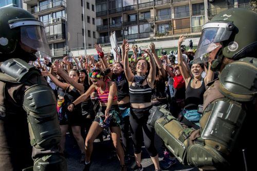 Protesta de estudiantes en Chile.