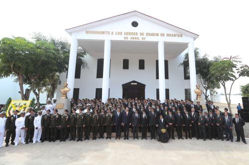 Presidente Martín Vizcarra en ceremonia de aniversario de la Operación Chavín de Huántar