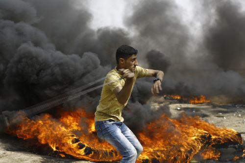 Palestina: enfrentamientos con las fuerzas israelíes en la  Franja de Gaza.