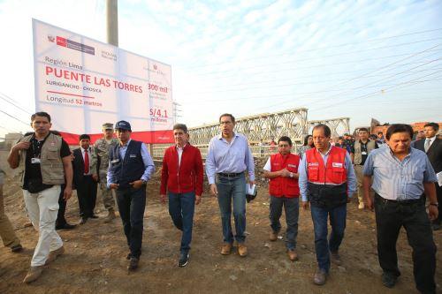 Presidente Vizcarra supervisa puesta en servicio de puente en Huachipa