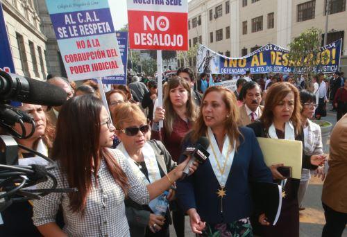 Desalojan oficina del CAL que funcionaba en el Palacio de Justicia