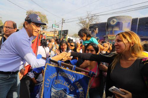 Presidente Martín Vizcarra asiste a ceremonia por aniversario de Chaclacayo