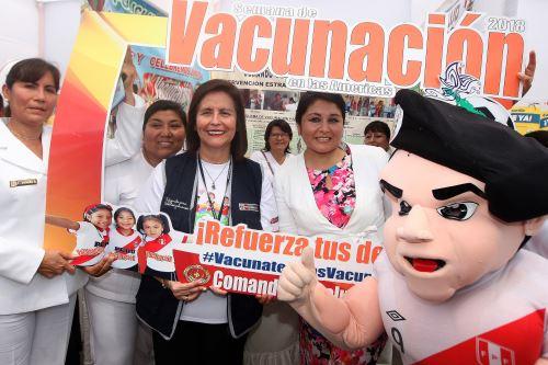 Campaña de inmunizaciones por la Semana de Vacunación de las Américas.