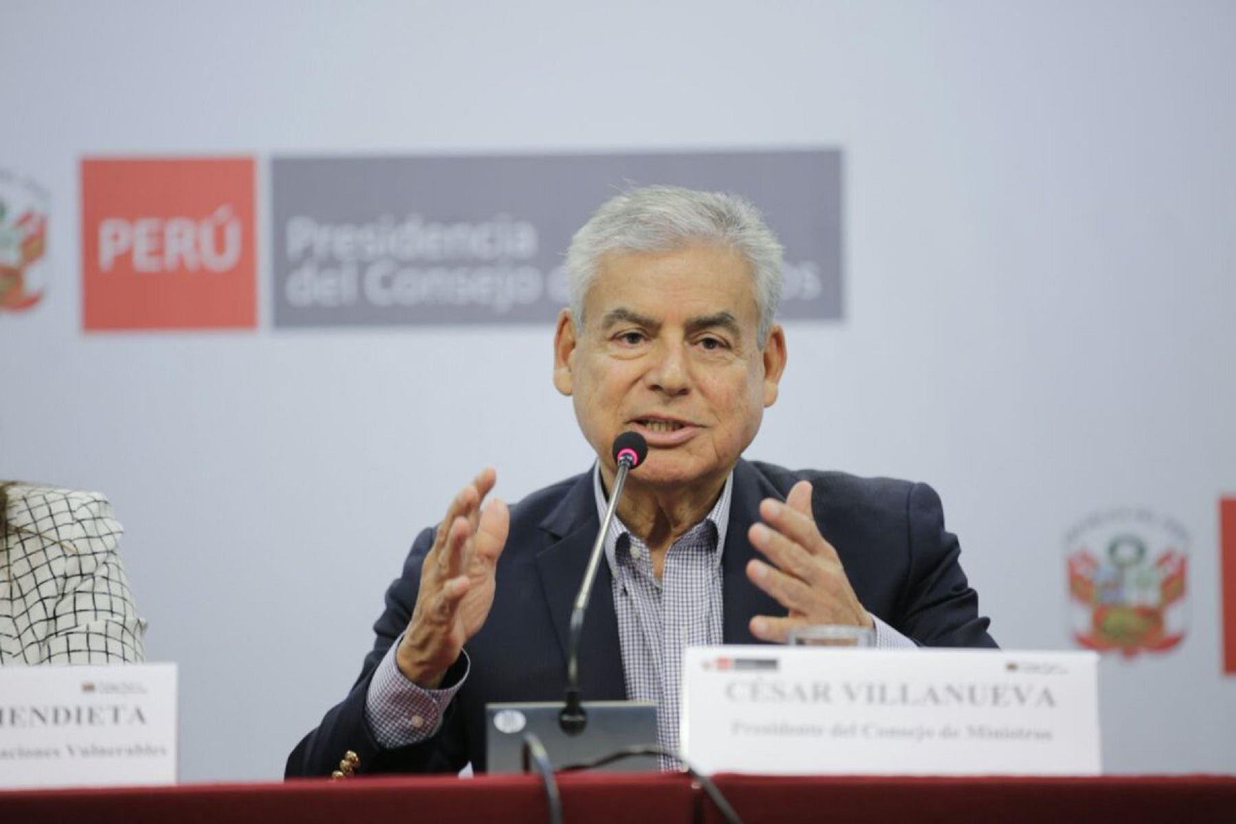 Este miércoles 2 de mayo César Villanueva pedirá voto de confianza — Congreso