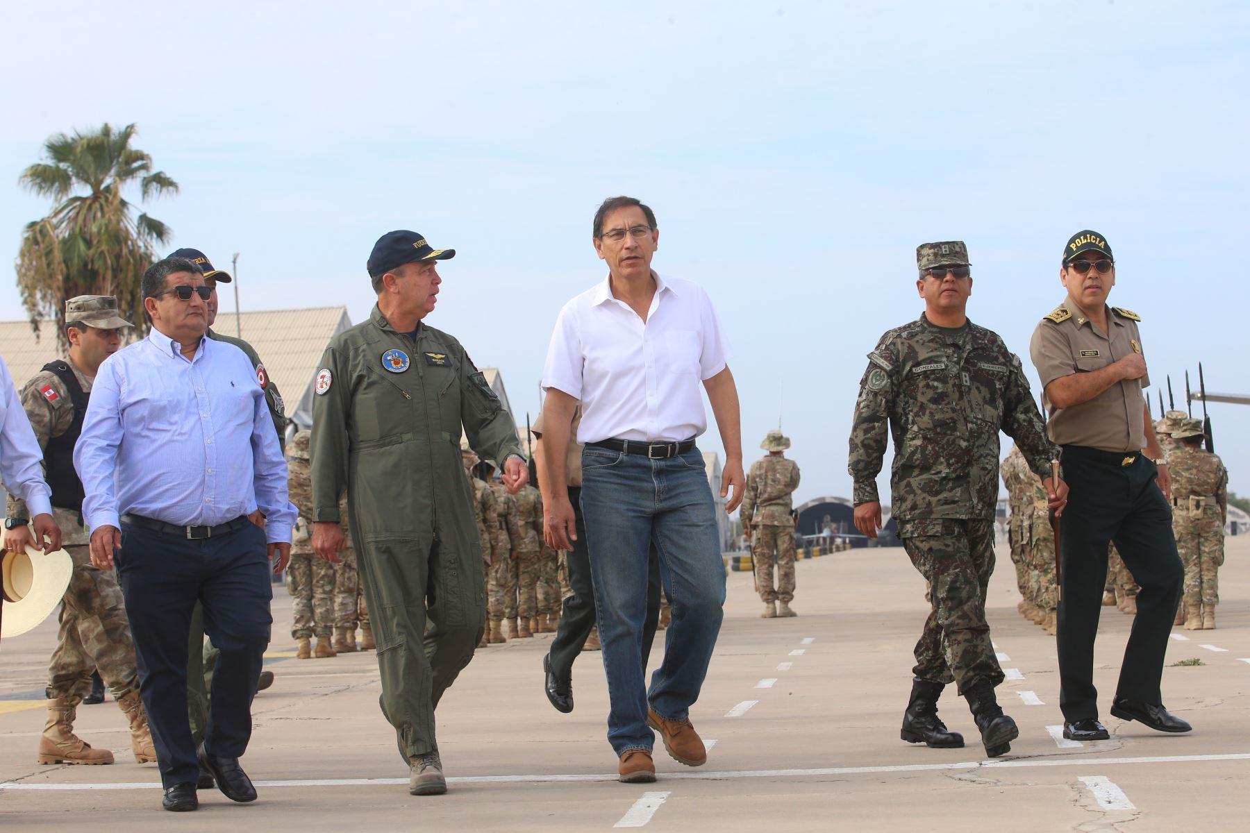 Presidente Martín Vizcarra llega a la región Lambayeque. Foto:ANDINA/Prensa Presidencia