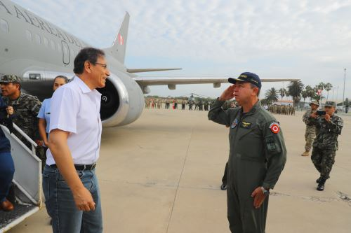 Presidente Martín Vizcarra llega a la región Lambayeque.