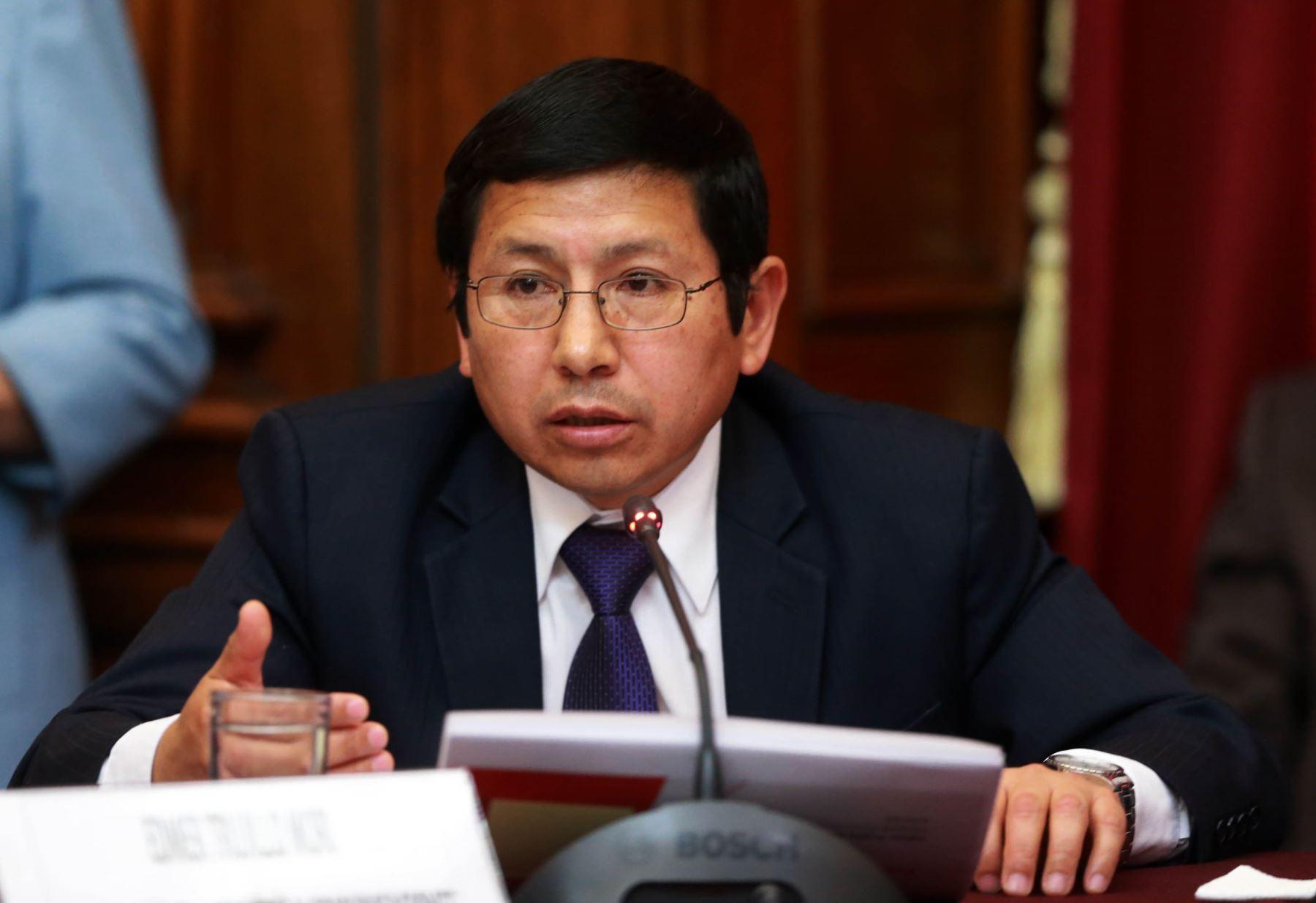 Ministro de Transportes y Comunicaciones, Edmer Trujillo. ANDINA/Norman Córdova