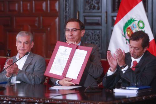 Presidente Vizcarra participa en transferencia de recursos a gobiernos regionales