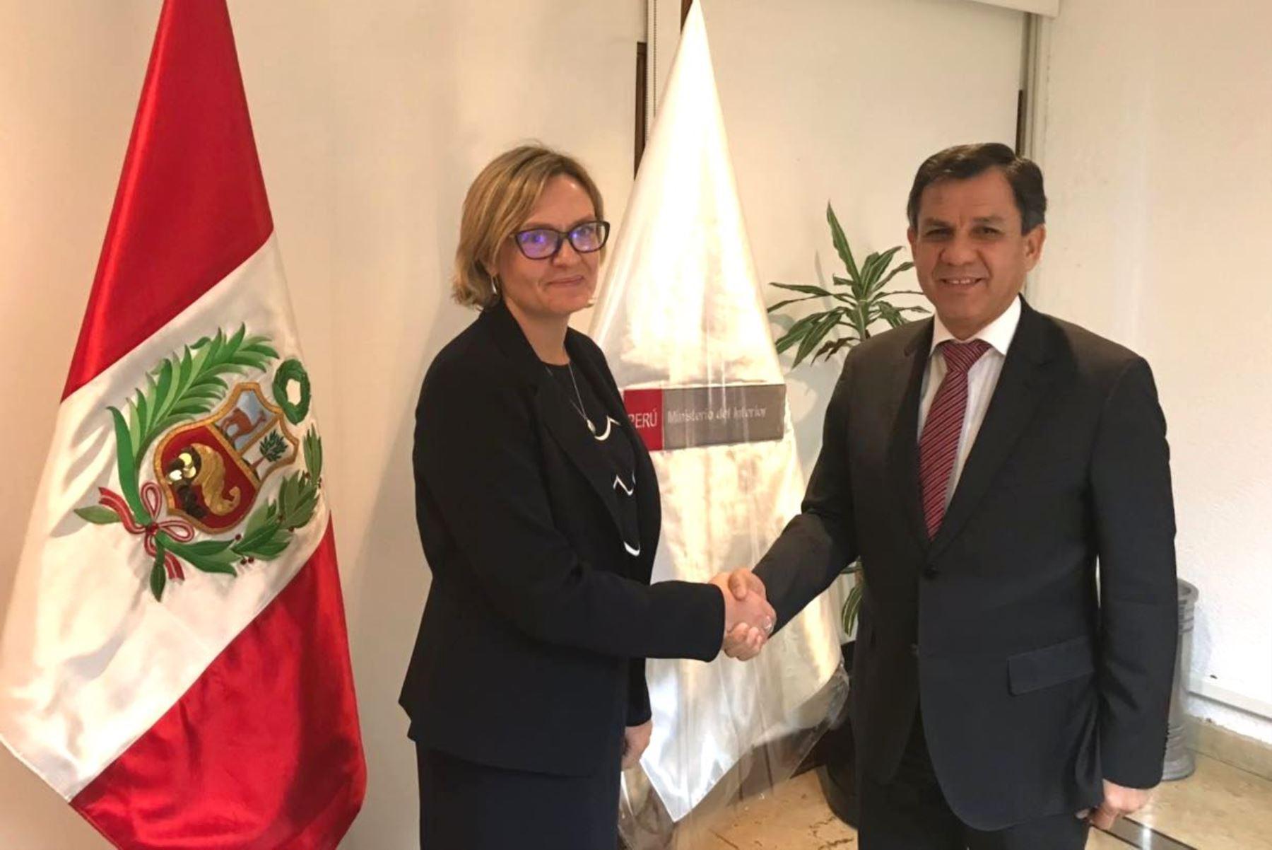 Perú y Reino Unido ratifican compromiso de cooperación técnica contra el crimen. Foto: ANDINA/Difusión.