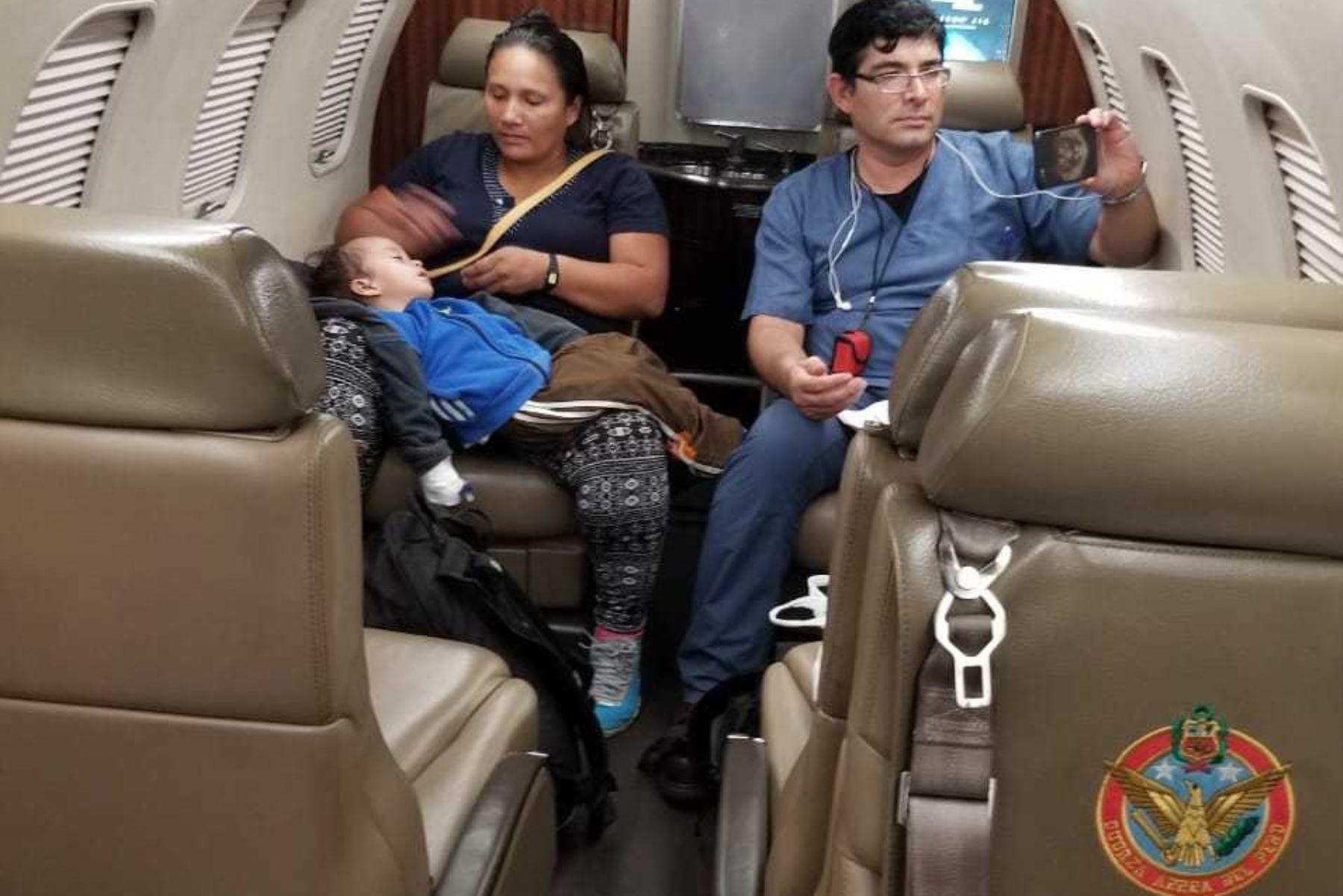 Menor evacuado desde Iquitos será atendido en el Instituto Nacional de Salud del Niño (INSN).