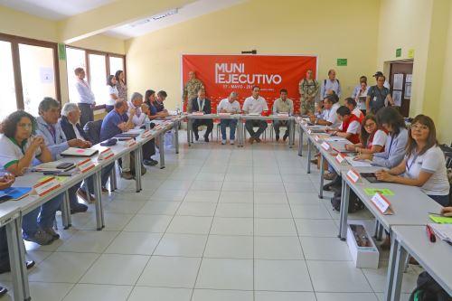 Presidente Martín Vizcarra,expone en el Muni Ejecutivo Extraordinario en Huánuco.
