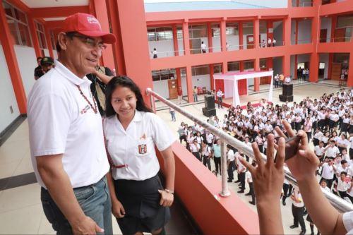 Presidente Vizcarra superviso obras de impacto social en Iquitos