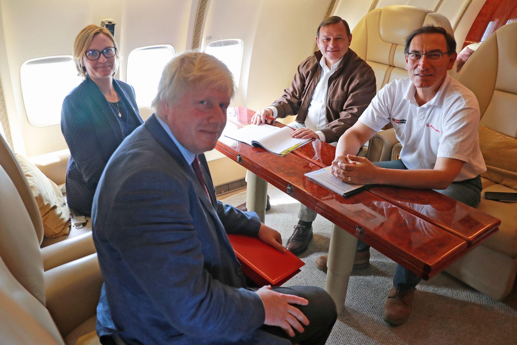 Presidente Martín Vizcarra sostuvo reunión de trabajo con secretario de Estado de Asuntos Exteriores del Reino Unido, Boris Johnson,