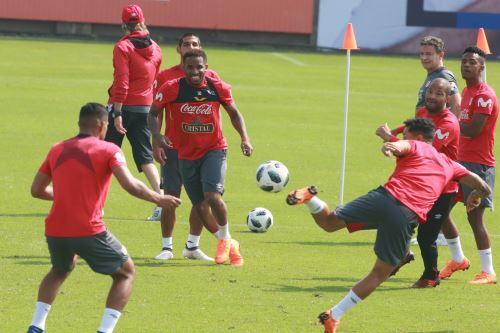 Entrenamiento de la selección peruana de fútbol