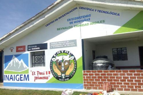Ministra del Ambiente, Fabiola Muñoz, inaugura hoy en Huaraz el Módulo I del Centro de Investigación Científica y Tecnológica en Ecosistemas de Montaña en Áncash.