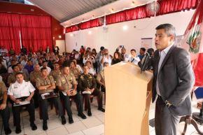 Congresista Luis Galarreta, presidente del Congreso, inaugura audiencia descentralizada en Chimbote.