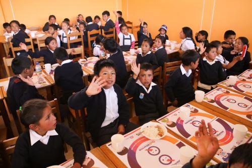 Midis evaluará impacto de desayunos escolares distribuidos por Qali Warma. ANDINA/Difusión