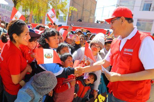 Jefe del Estado, Martín Vizcarra, verifica la Acción Cívica Multisectorial en Huancavelica.
